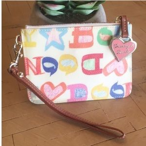 Dooney Bourke Small Doodle Graffiti Wristlet Card